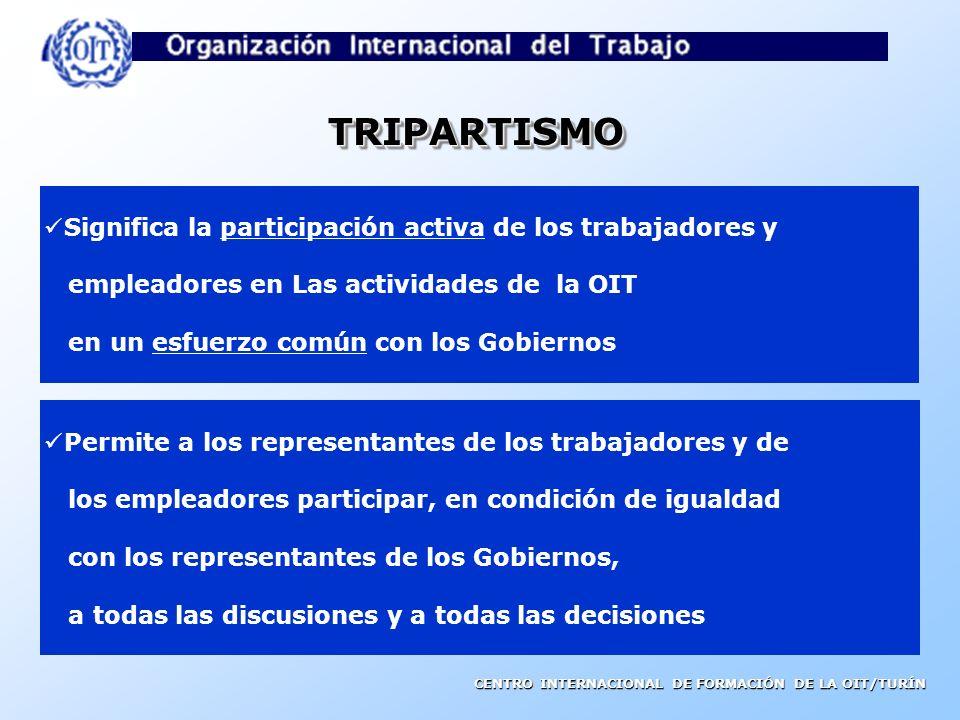 CENTRO INTERNACIONAL DE FORMACIÓN DE LA OIT/TURÍN OBJETIVOS Y PRINCIPIOS DE LA OIT El trabajo no es una mercancía La libertad de expresión y de asocia
