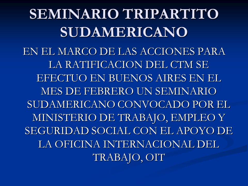 MEMORANDUM DE ASISTENCIA TECNICA Y COOPERACION EL 23 DE FEBRERO DE 2007 SE FIRMO EN BUENOS AIRES, EL MEMORANDUM DE ASISTENCIA TECNICA Y COOPERACION PARA LA PROMOCION DEL CTM 2006, ENTRE EL M.T.E.y.S.S.