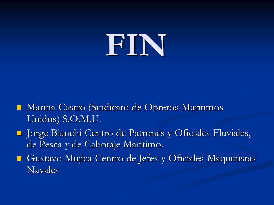 FIN Marina Castro (Sindicato de Obreros Maritimos Unidos) S.O.M.U. Marina Castro (Sindicato de Obreros Maritimos Unidos) S.O.M.U. Jorge Bianchi Centro