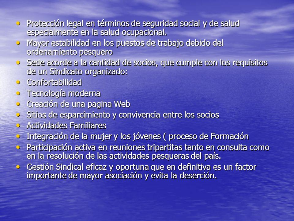 Protección legal en términos de seguridad social y de salud especialmente en la salud ocupacional. Protección legal en términos de seguridad social y