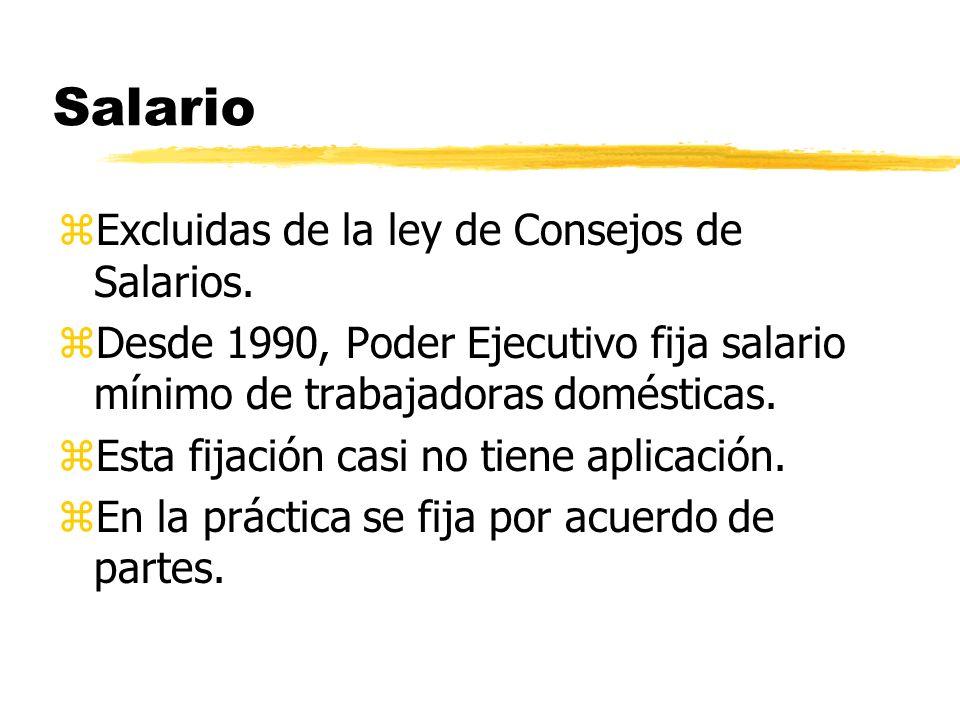 Salario zExcluidas de la ley de Consejos de Salarios.