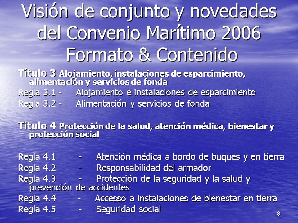 8 Título 3 Alojamiento, instalaciones de esparcimiento, alimentación y servicios de fonda Regla 3.1 - Alojamiento e instalaciones de esparcimiento Reg