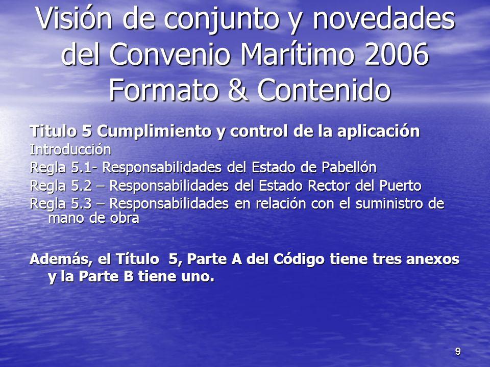 10 Apéndice A5-1, Responsabilidades del Estado del pabellón Apéndice A5-1, Responsabilidades del Estado del pabellón Apéndice A5-III, Responsabilidades en relación con el suministro de mano de obra Apéndice A5-III, Responsabilidades en relación con el suministro de mano de obra Apéndice A5-II modelode documento para facilitar el sistema de inspección y certificación establecido en el Título 5: Apéndice A5-II modelode documento para facilitar el sistema de inspección y certificación establecido en el Título 5: Certificado de Trabajo Marítimo Certificado de Trabajo Marítimo Declaración de conformidad Marítima Declaración de conformidad Marítima Apéndice B5-I – un Ejemplo, contiene una guía sobre como debe ser compilada la Declaración.