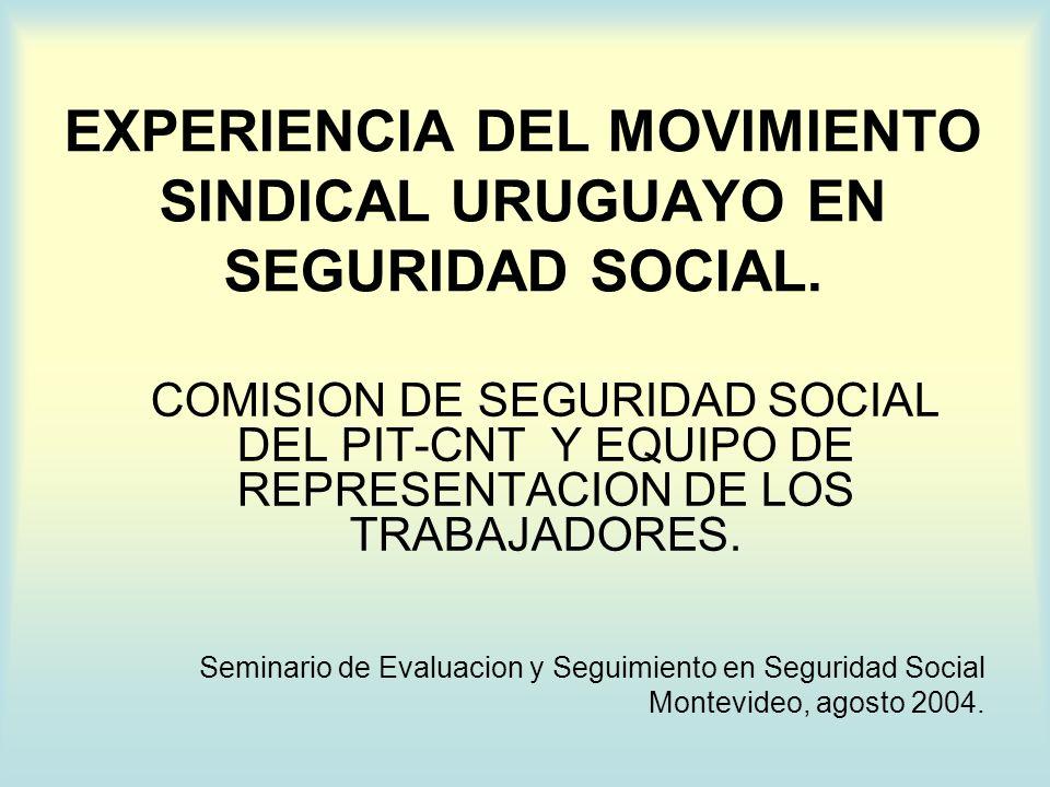 ANTECEDENTES 1966: Nace la CNT.1992: Directorio del BPS con Participacion Social.