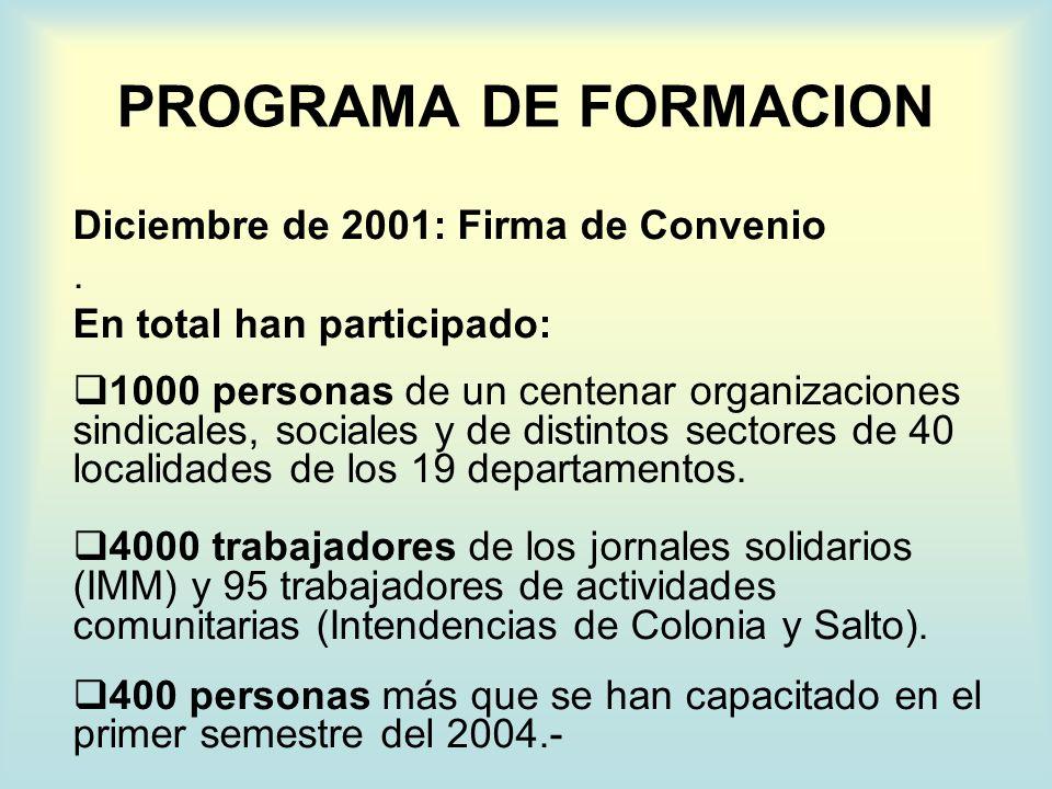 Centros Locales: El 2002 finalizó con el Encuentro Nacional de Trabajadores de la Seguridad Social de 6 y 7 de diciembre; los primeros dos Centros Locales funcionando (Paysandú y FUECI Montevideo) y un notorio crecimiento del número de integrantes de la COSS integrados a la misma luego de la finalización de los primeros cursos de formación.