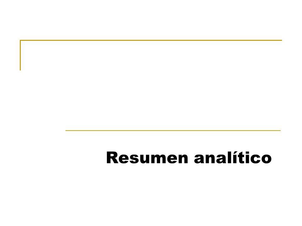 Resumen analítico