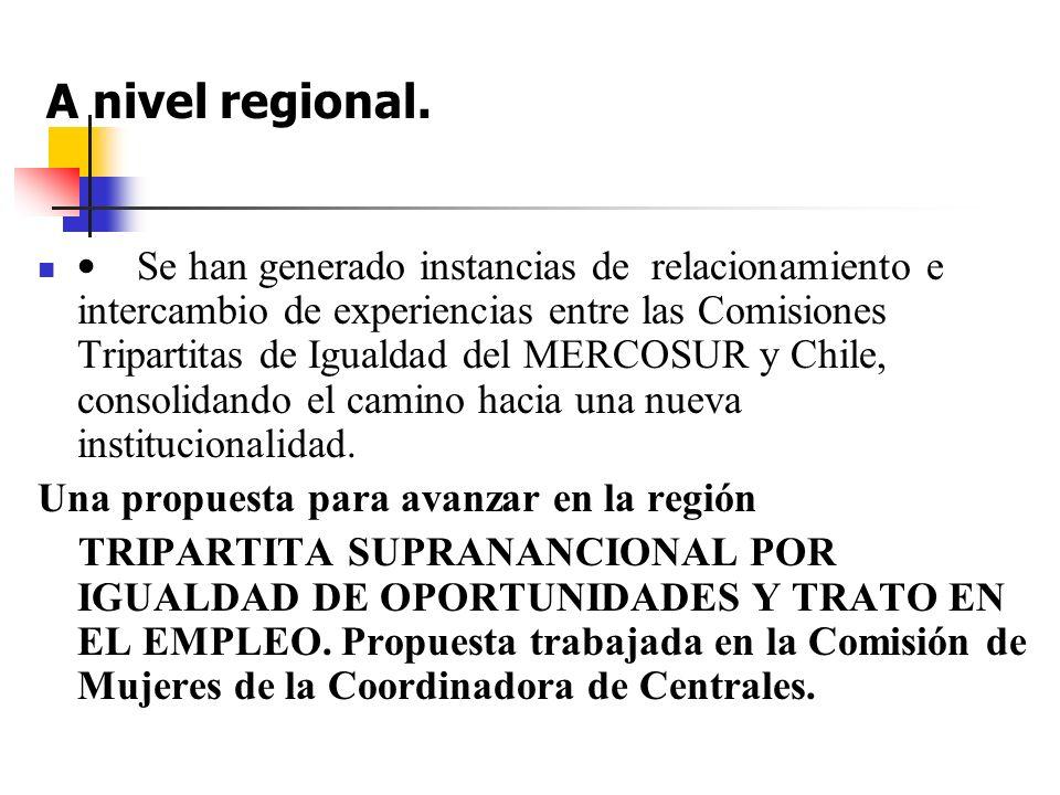 A nivel regional.