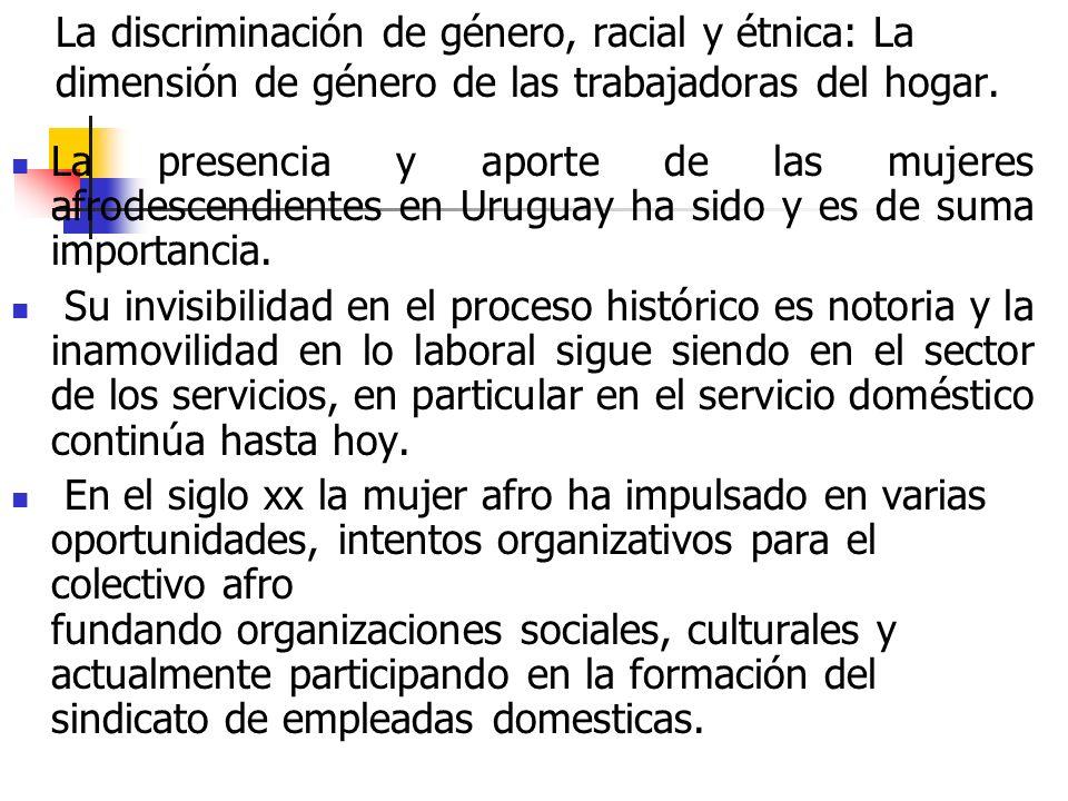 La discriminación de género, racial y étnica: La dimensión de género de las trabajadoras del hogar.