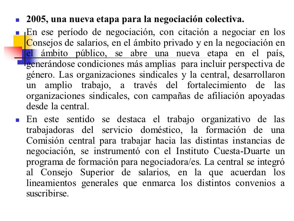 2005, una nueva etapa para la negociación colectiva.
