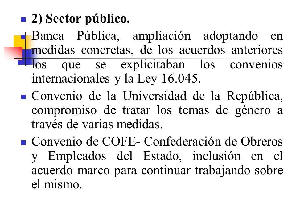 2) Sector público.