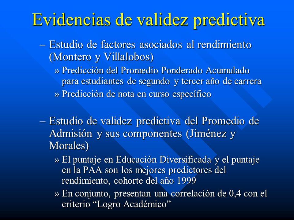 Evidencias de validez predictiva –Estudio de factores asociados al rendimiento (Montero y Villalobos) »Predicción del Promedio Ponderado Acumulado par