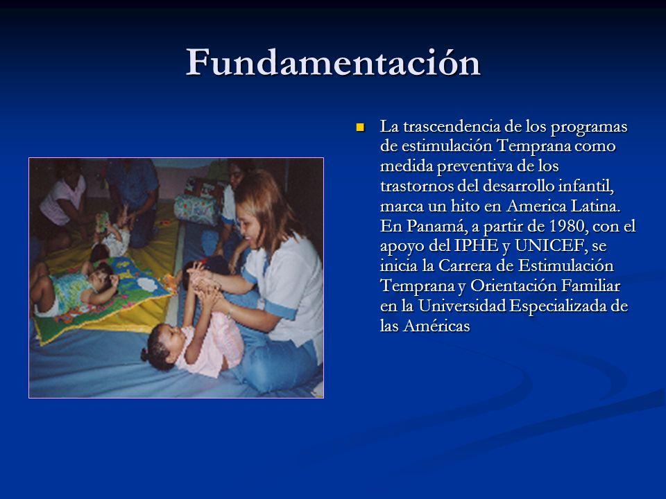 Fundamentación La trascendencia de los programas de estimulación Temprana como medida preventiva de los trastornos del desarrollo infantil, marca un h