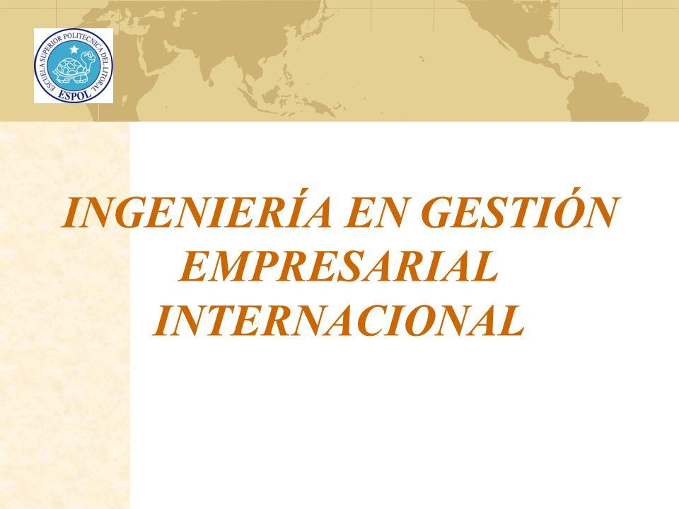 INGENIERÍA EN GESTIÓN EMPRESARIAL INTERNACIONAL
