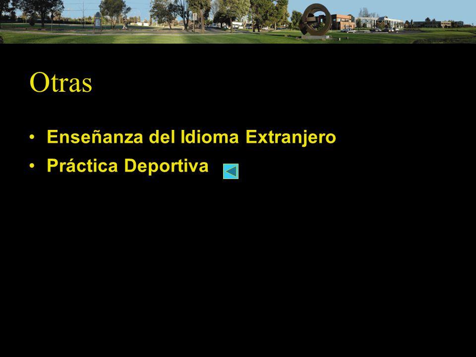 Enseñanza del Idioma Extranjero Práctica Deportiva Otras