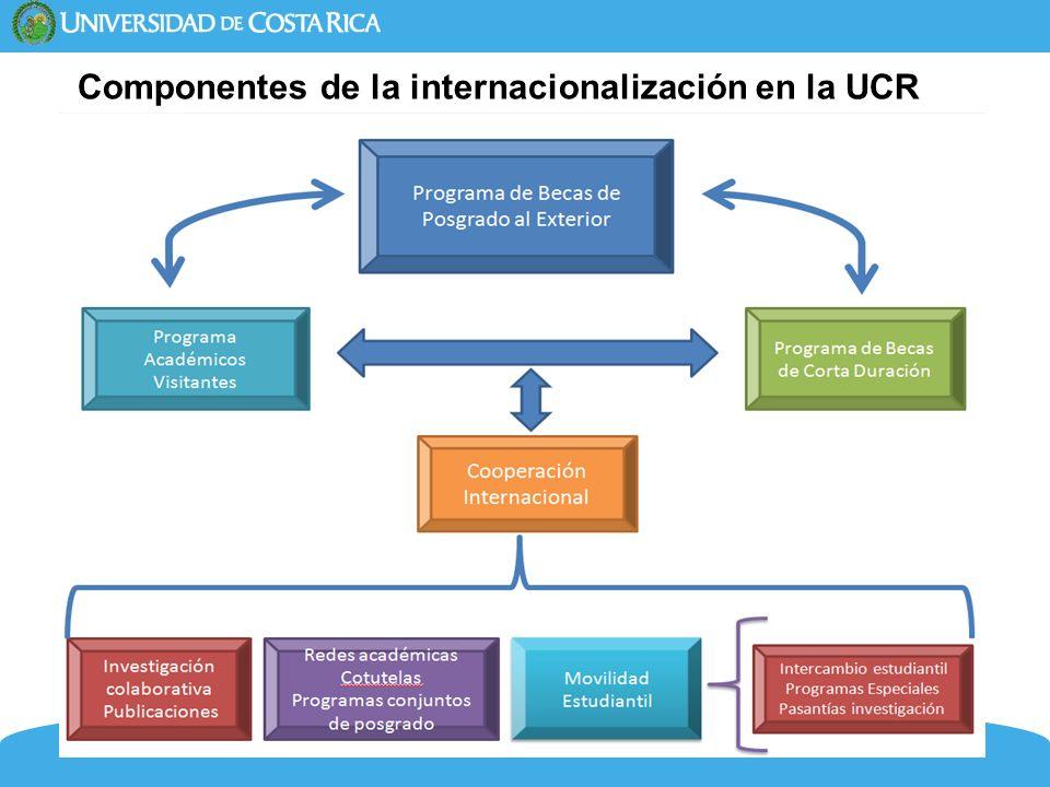 21 Componentes de la internacionalización en la UCR