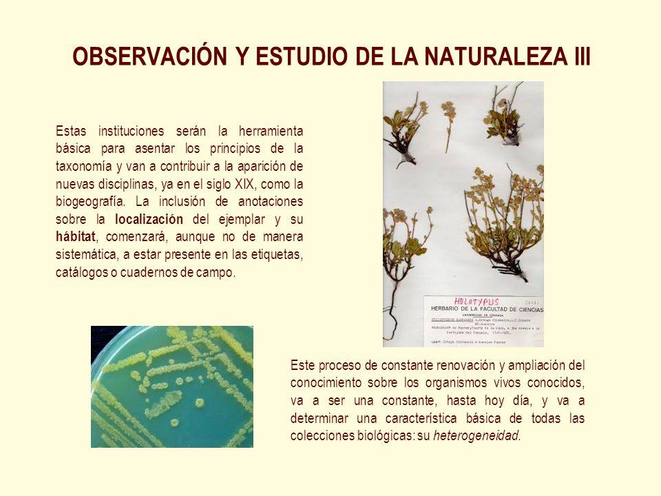 Este proceso de constante renovación y ampliación del conocimiento sobre los organismos vivos conocidos, va a ser una constante, hasta hoy día, y va a