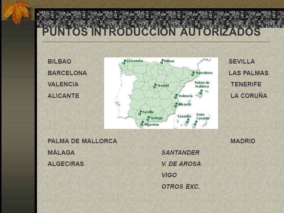 PUNTOS INTRODUCCIÓN AUTORIZADOS BILBAO SEVILLA BARCELONA LAS PALMAS VALENCIA TENERIFE ALICANTE LA CORUÑA PALMA DE MALLORCA MADRID MÁLAGA SANTANDER ALG