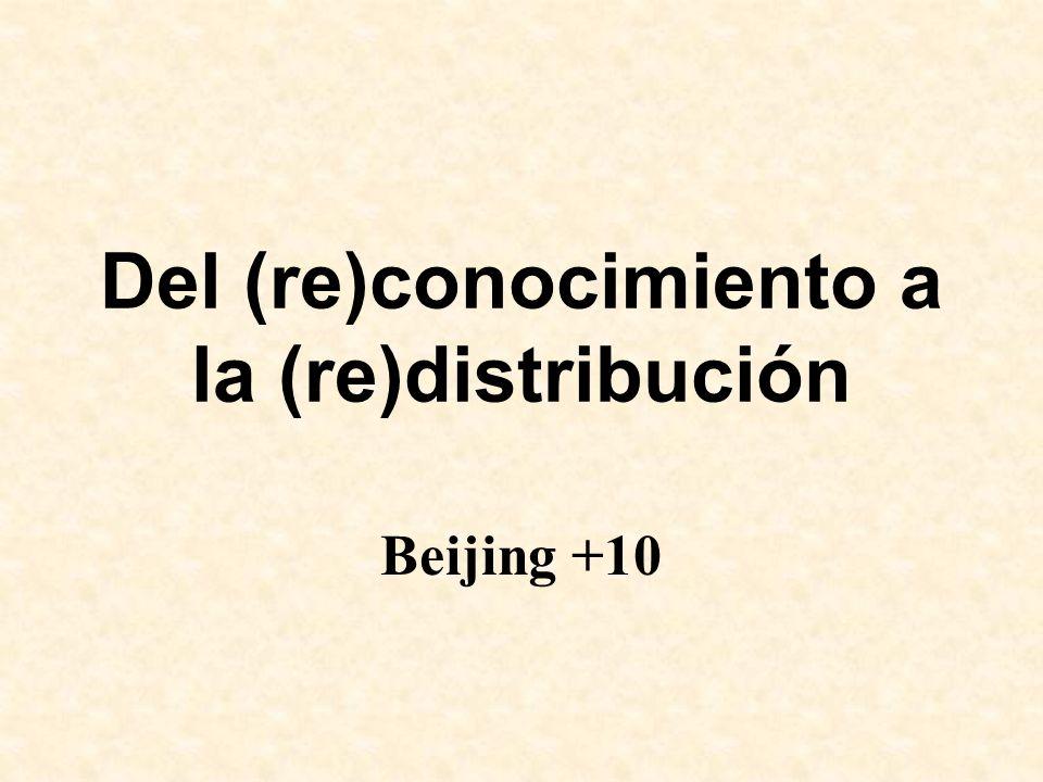 Del (re)conocimiento a la (re)distribución Beijing +10