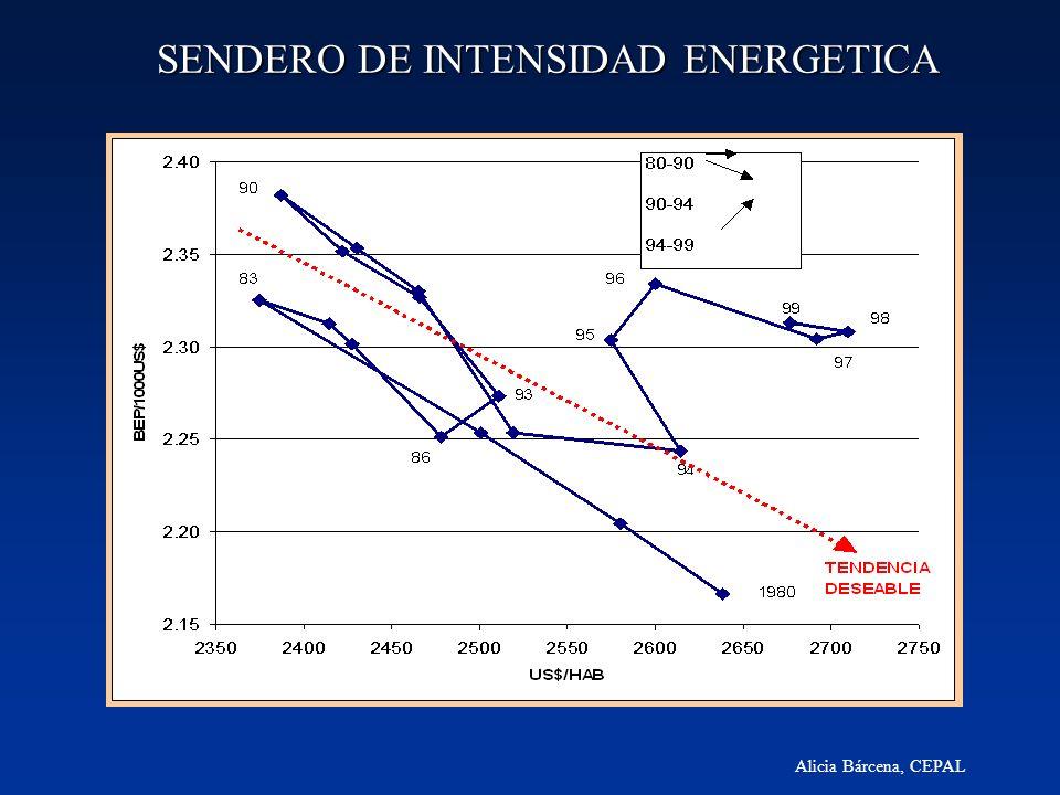 Alicia Bárcena, CEPAL SENDERO DE INTENSIDAD ENERGETICA