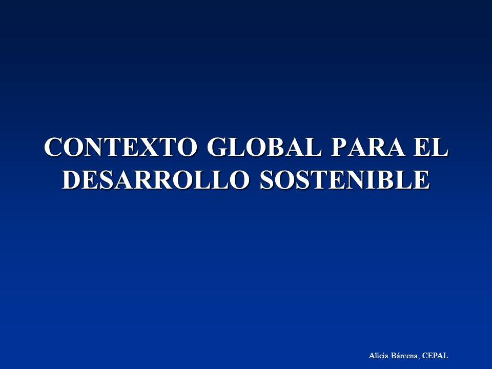 Alicia Bárcena, CEPAL CONTEXTO GLOBAL PARA EL DESARROLLO SOSTENIBLE