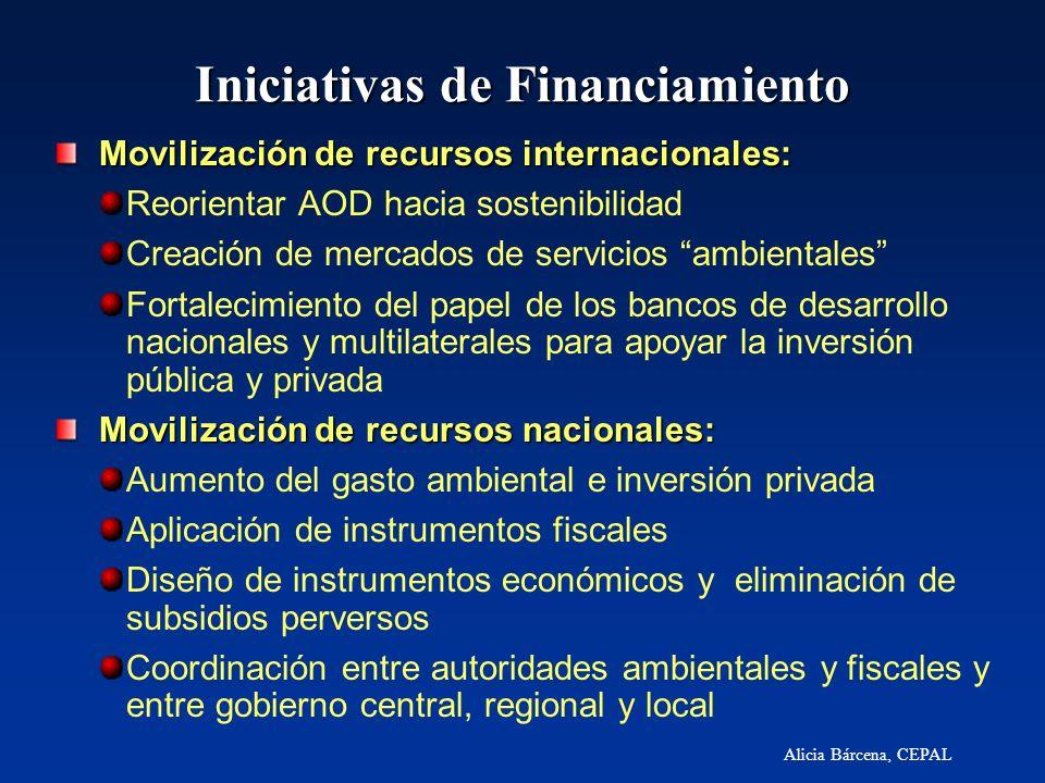 Alicia Bárcena, CEPAL Iniciativas de Financiamiento Movilización de recursos internacionales: Movilización de recursos internacionales: Reorientar AOD