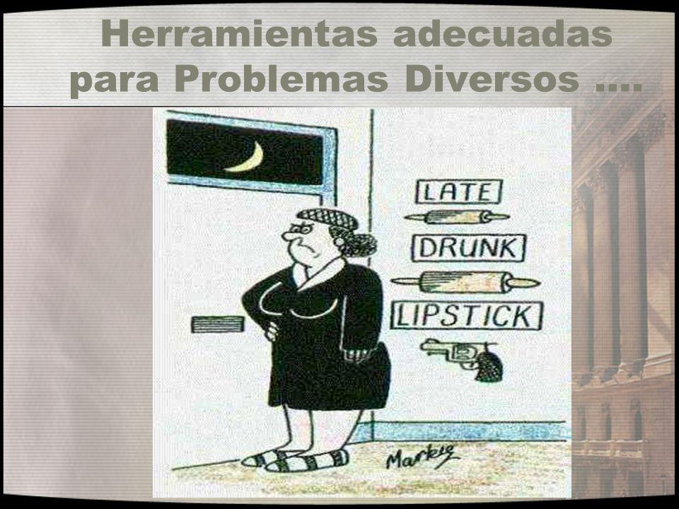 Herramientas adecuadas para Problemas Diversos ….