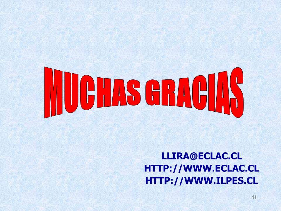 41 LLIRA@ECLAC.CL HTTP://WWW.ECLAC.CL HTTP://WWW.ILPES.CL