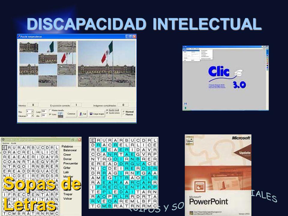 DISCAPACIDAD INTELECTUAL Sopas de Letras
