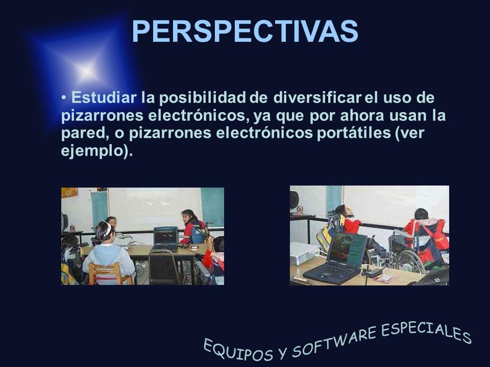 Estudiar la posibilidad de diversificar el uso de pizarrones electrónicos, ya que por ahora usan la pared, o pizarrones electrónicos portátiles (ver e