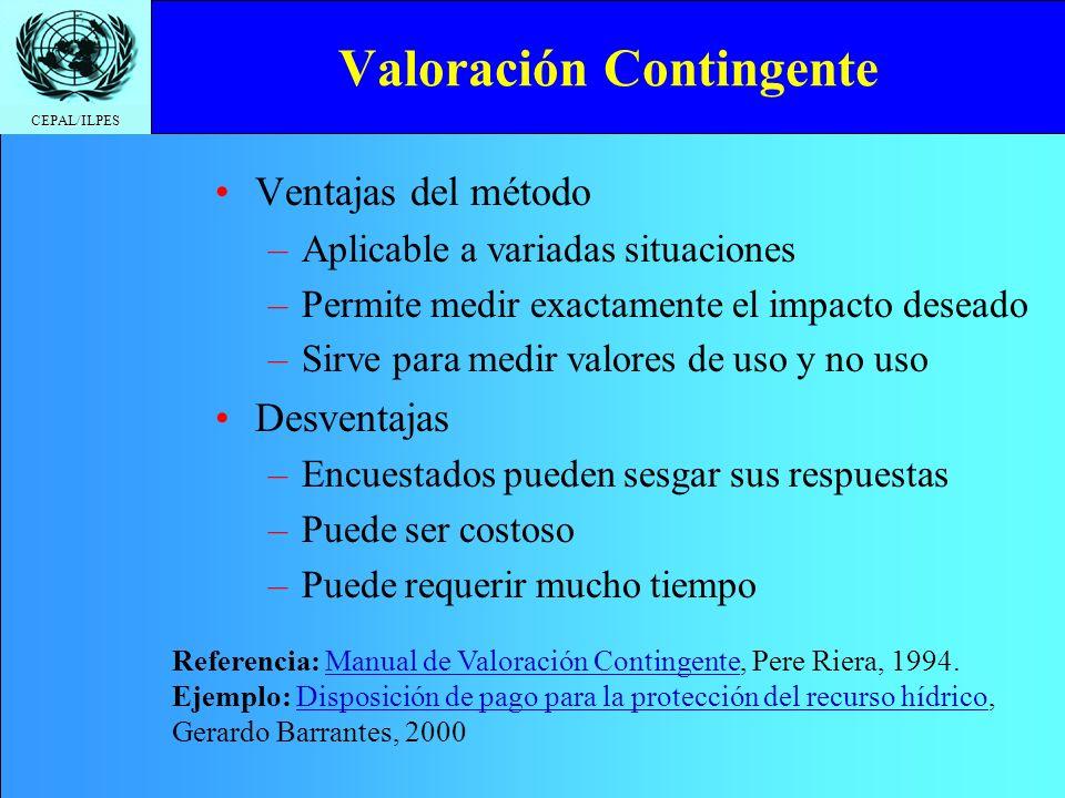 CEPAL/ILPES VAN Privado vs.
