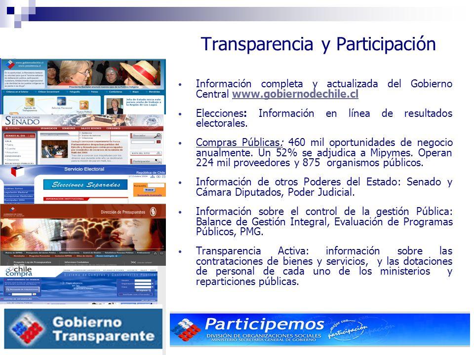 17 Información completa y actualizada del Gobierno Central www.gobiernodechile.clwww.gobiernodechile.cl Elecciones: Información en línea de resultados