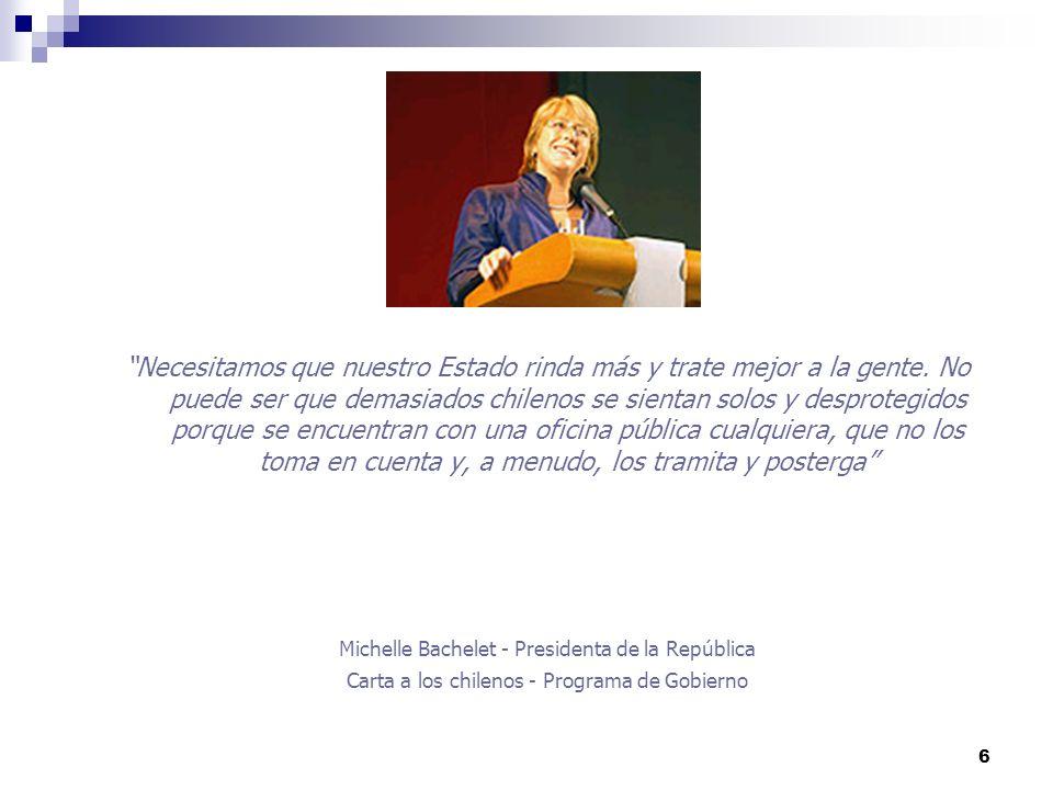 17 Información completa y actualizada del Gobierno Central www.gobiernodechile.clwww.gobiernodechile.cl Elecciones: Información en línea de resultados electorales.
