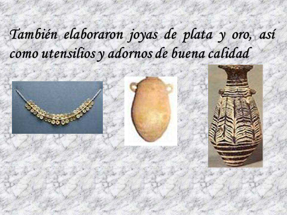 Además se dedicaron a la fabricación de armas usando los metales (sobre todo el hierro y el bronce)