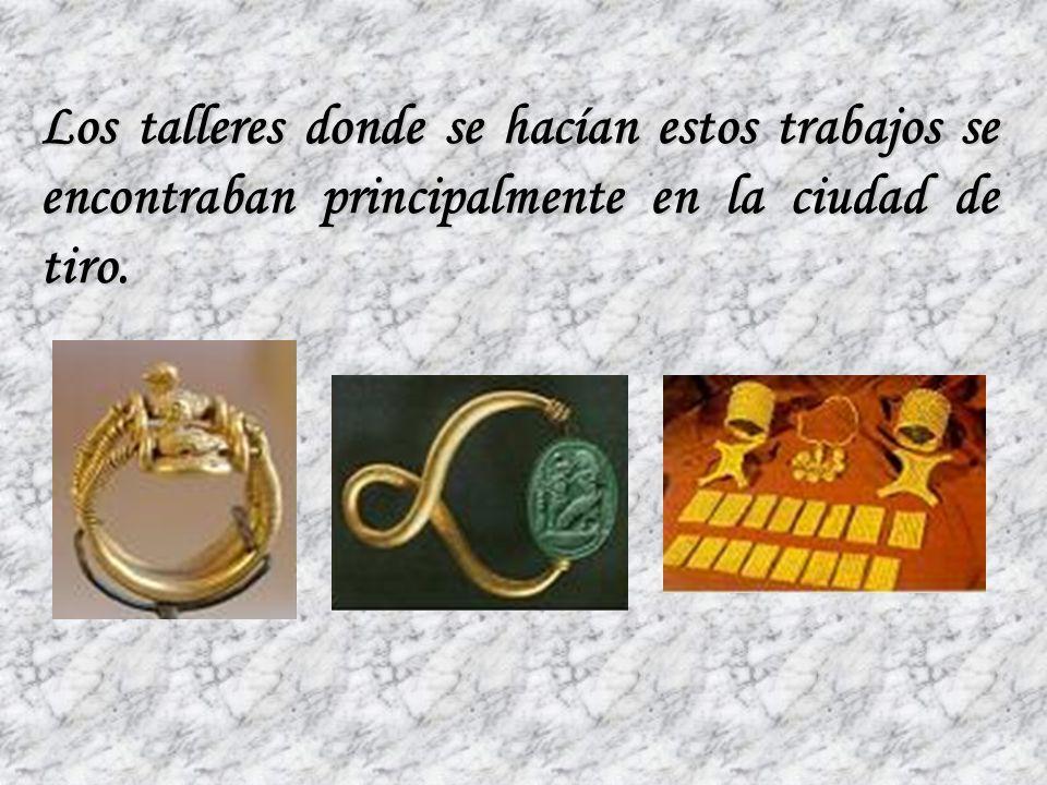 También elaboraron joyas de plata y oro, así como utensilios y adornos de buena calidad