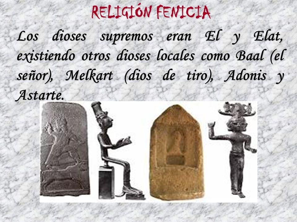 En arte no aportaron nada original, solo las ruinas de templos y fortalezas en Biblos, Sidón y Tiro y un sarcófago en Cádiz ARTE FENICIO