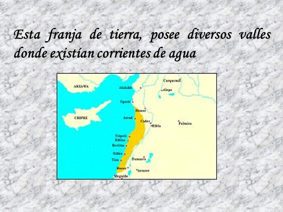 TERRITORIOSu territorio era pequeño, formado por una región costera angosta. De 20 a 30 km. de ancho