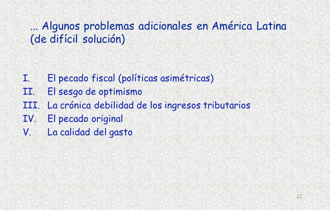 20 Dos principios para un pacto fiscal... §Estabilidad macroeconómica (niveles elevados de crecimiento y empleo)