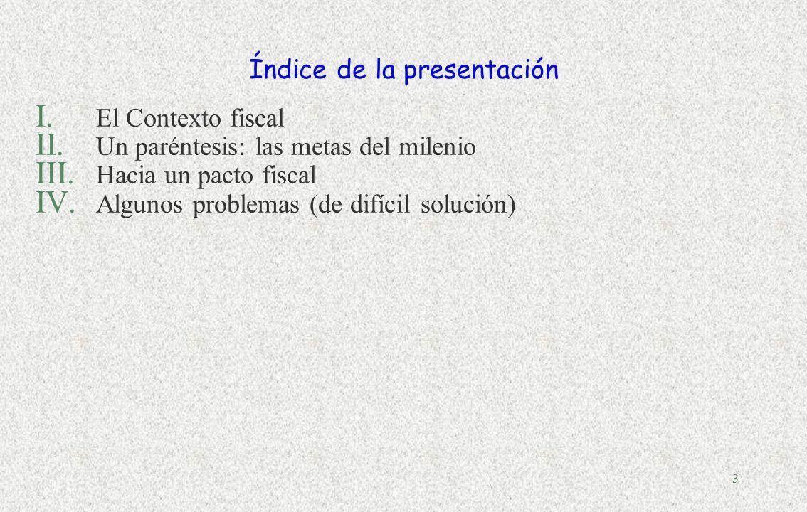 2 PANORAMA DE LA GESTIÓN PÚBLICA Parte A: LAS FINANZAS PÚBLICAS visión de conjunto ingresos públicos gasto público descentralización fiscal deuda públ