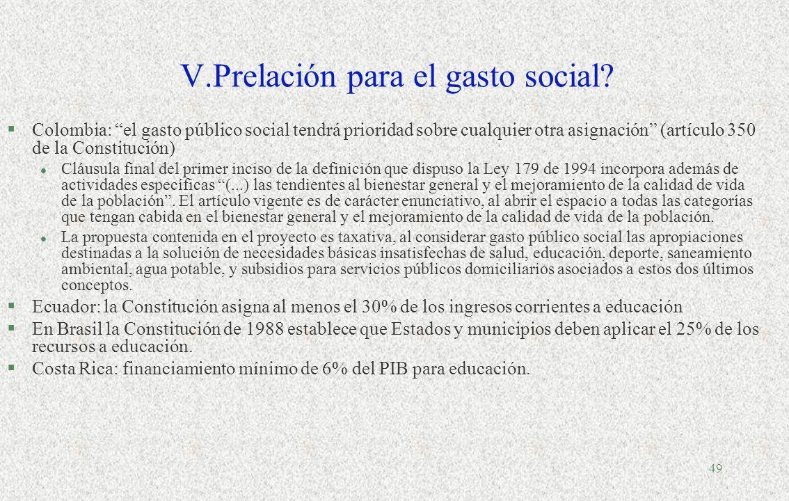 48 América Latina (18 países): Gasto social como porcentaje del PIB en 1990-1991, 1996- 1997 y 2000-2001 Fuente: Cepal, División de Desarrollo Social,