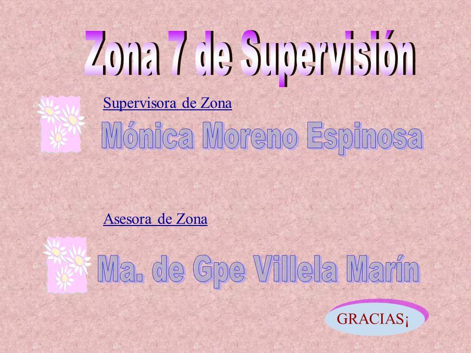 Supervisora de Zona Asesora de Zona GRACIAS¡