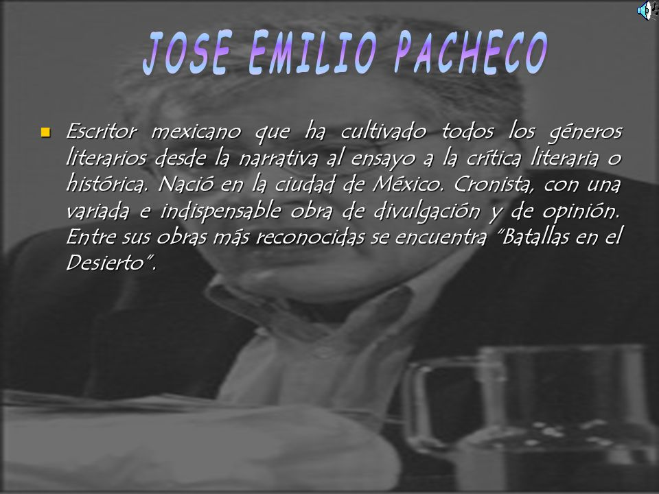 Escritor mexicano que ha cultivado todos los géneros literarios desde la narrativa al ensayo a la crítica literaria o histórica. Nació en la ciudad de