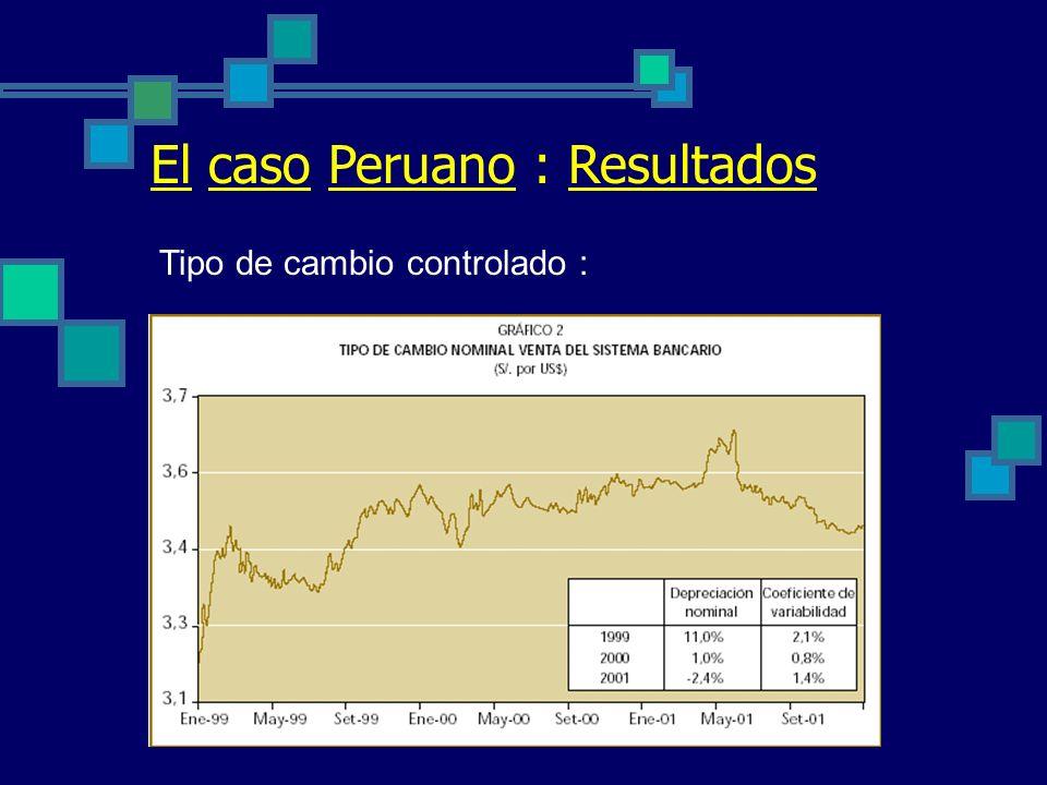 El caso Peruano : Resultados Inflación controlada :