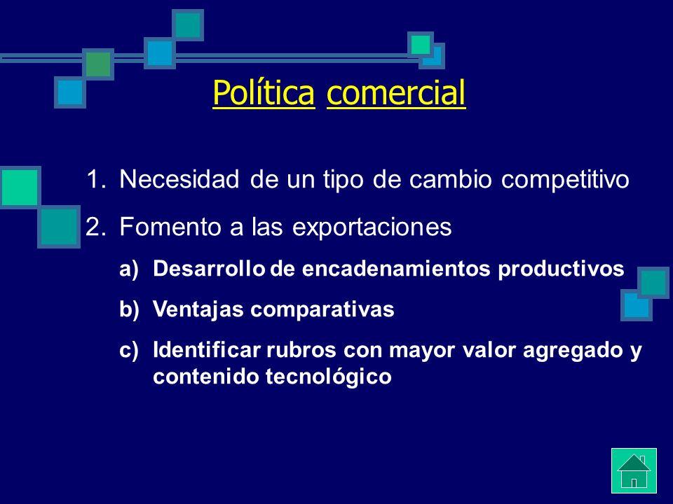 Políticas Nacionales en el contexto de la Globalización Política comercial Regulación de las cuentas de capitales Autonomía monetaria Regulación cambi