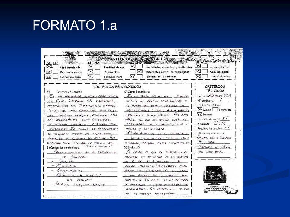 Formato de descripción del programa. Elaborado y proporcionado por el equipo de Informática Educativa. FORMATO 1