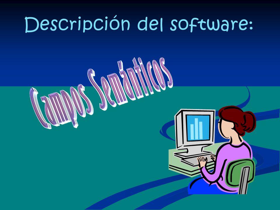 Descripción del software: