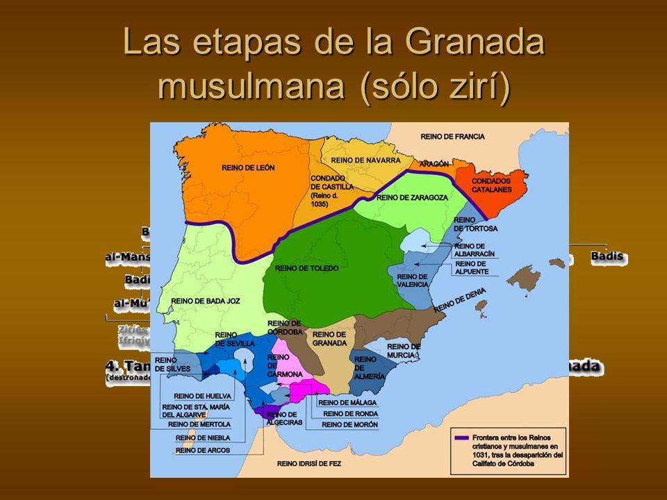Las etapas de la Granada musulmana (sólo zirí)