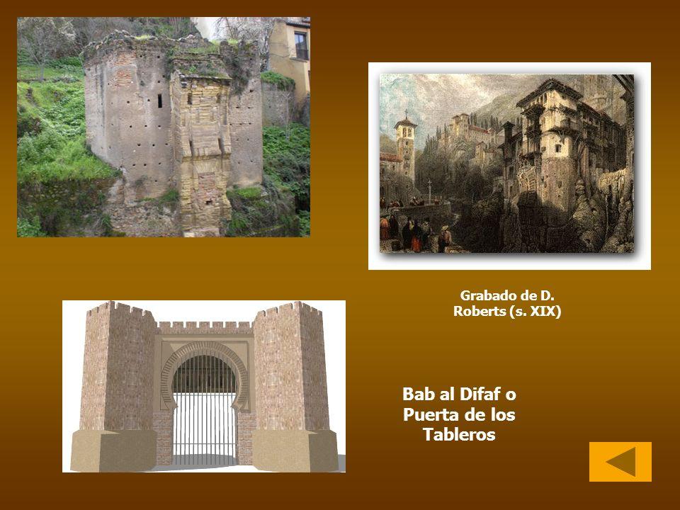 Grabado de D. Roberts (s. XIX) Bab al Difaf o Puerta de los Tableros