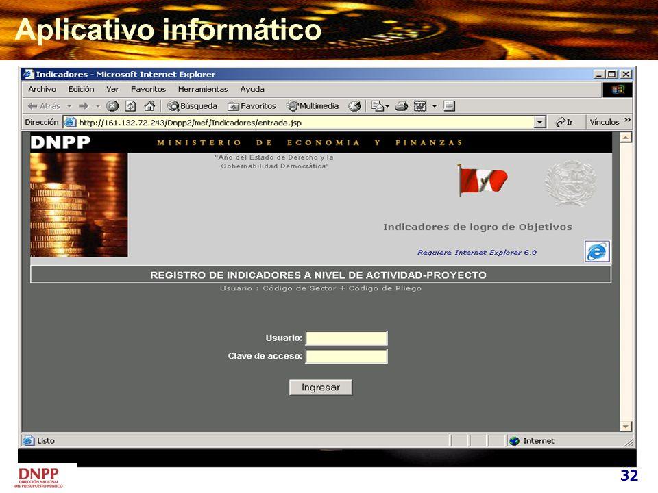 Aplicativo informático 32