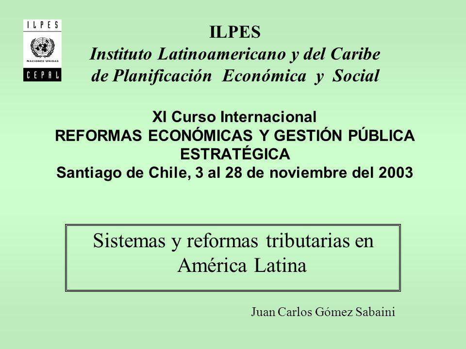 ILPES Instituto Latinoamericano y del Caribe de Planificación Económica y Social XI Curso Internacional REFORMAS ECONÓMICAS Y GESTIÓN PÚBLICA ESTRATÉG