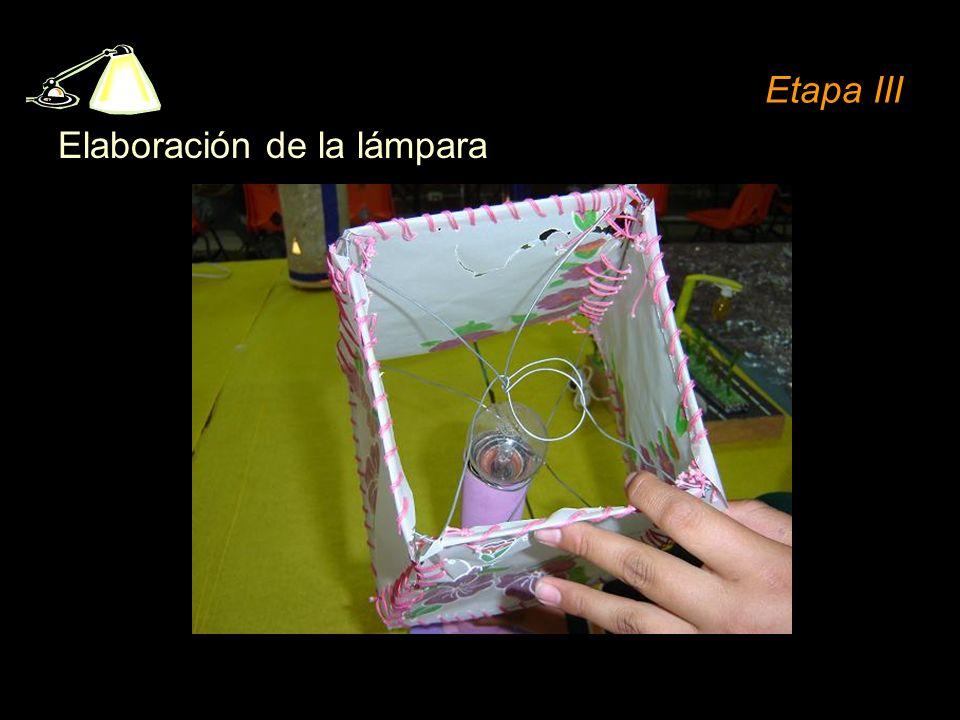 Etapa III Elaboración de la lámpara
